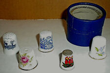 Lot of 5 Vintage Thimbles Collectible
