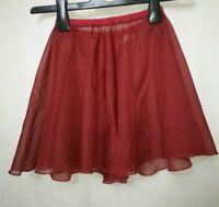 "Roch Valley red Dance Skirt Size 20"""