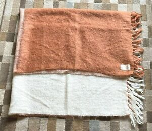 HUGE MOHAIR WRAP SHAWL THROW BLANKET 100% MOHAIR PILE CAPE MOHAIR
