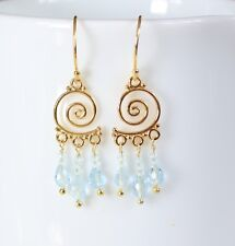 SWEET and MAGICAL Genuine TOPAZ CHANDELIER DANGLE EARRINGS Exquisite!!!