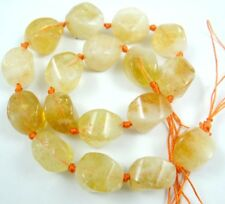 Natural 14-16mm citrine Freeform Chips Jewelry Making necklace Gemstone Beads
