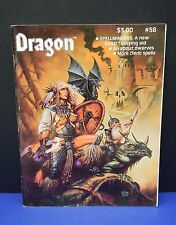 1982 vintage DRAGON magazine #58 Clyde Caldwell cover art dwarves HOLMES story