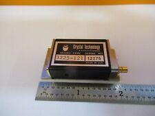New listing Optical Aom Crystal Technologies Acousto Modulator Optics 3225-121 &Q6-A-110