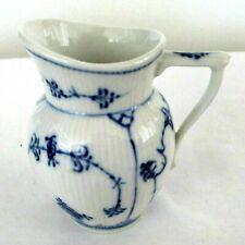 Vintage Royal Copenhagen Porcelain Ceramic Blue Fluted Pitcher Creamer No Lace