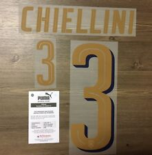 Stilscreen Official Puma Italy Tribute Gold Away Nameset Print CHIELLINI 3