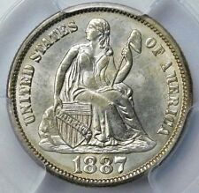 PCGS MS 64 1887 S SEATED LIBERTY DIME