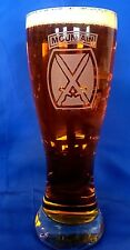 US Army 10th Mountain Division emblem custom etched on 23oz pilsner set of 2
