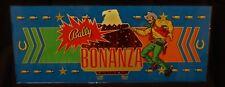 Vintage 1975 Bally BONANZA Slot Machine Glass Belly Glass Sheriff Eagle Bullet