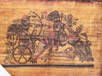 Rare Antique Ancient Egyptian Papyrus king Tutankhamun Hunting Ducks Dogs 1336BC