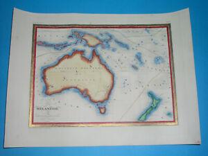1846 ORIGINAL MAP AUSTRALIA PAPUA NEW GUINEA NEW HOLLAND TASMANIA NEW ZEALAND