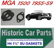 """10 X H4 1 1/2 """"su Carb pour collecteur joints Pour Mga MG un 1500 1955-59"""