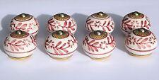 placard céramique poignées boutons blanc rond avec prune fleur (Raccords laiton)