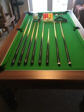 Slate bed pool table 7ft with table top