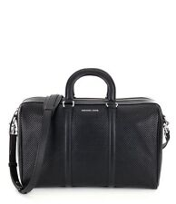 Michael Kors Libby Large Perforated Leather Gym Bag (Black)