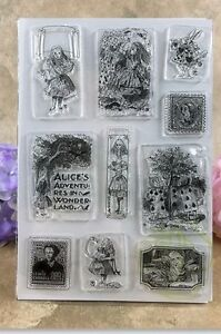 Alice In Wonderland  New Silicon Transparent Stamp Seal Card Making UK stocked