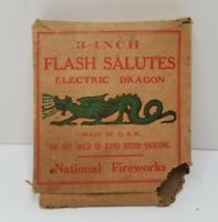 Rare FLASH SALUTES - ELECTRIC DRAGON - National Fireworks BOX Only NO Contents