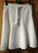 Next Linen Mix White Skirt Size UK 8