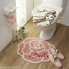 Disney Princess Bell Toilet Seat, Paper Cover Set with Matt, Slipper