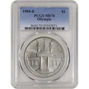 1984-D US Olympic Commemorative BU Silver Dollar - PCGS MS70