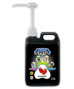Fresh Pet Cleaner for Dogs & Cats - With Pump - Strawberry - 2.5L - Black