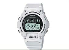 Casio Illuminator Sports Digital Chronograph Watch - White W 214 HC-7AEF