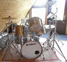 Vintage Yamaha 9000 Recording Rock Drum Set Chrome over Real Wood + Snare