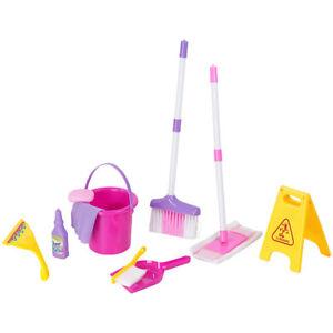 Putzset: Spielzeug-Putz-Set für Kinder, 10-teilig (Putzutensilien für Kinder)
