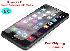 "Brand New 5X Clear LCD Screen Protector for Apple iphone6 iphone 6 4.7"" Cloth"