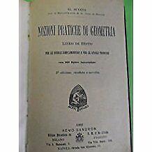 Nozioni pratiche di geometria libro di testo Scoto.164 figure. Sandron 1902 3ed