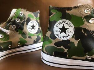 Men's Converse Camo Chuck Taylor All Star 70 Hi sz 10 camouflage shoes 166714F