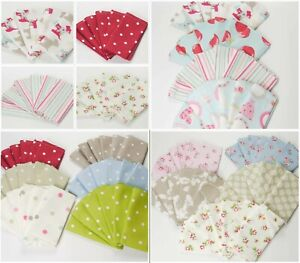 Cotton Napkins Pack of Six Bright and Quirky Garden Party by Dotty Brown