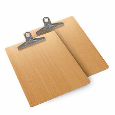 2PCS Wooden A4 Size File Clip Writing Board Document Clipboard office Supplies