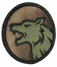 WOLF HEAD FIERCE DOG K9 MORALE USA ARMY FOREST HOOK PATCH