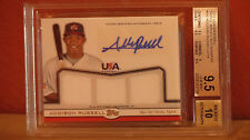 2011 Topps USA Baseball Triple Jersey Auto Addison Russell Card BGS 9.5 Auto 10.