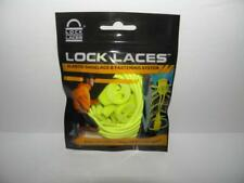 New! LOCK LACES Elastic NEON YELLOW No Tie Shoelace & Fastening System