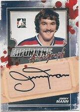 Jimmy Mann 2011-12 ITG In The Game Enforcers Autographs Card # AJMA