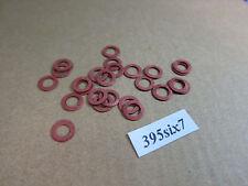 25 Pcs Red Fiber Washer - 5mm x 8mm x 0.5mm