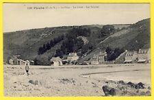 cpa Bretagne 22 - PLOUHA (Côtes d'Armor) Le PALUS La Grève Les Falaises PLAGE