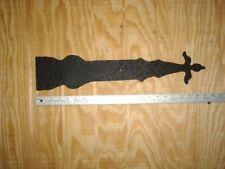 Large Rustic hammered  hinge plates- pair