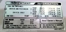 HONDA CB650 CB650C CB650SC Nighthawk Custom pneu attention Avertissement étiquette Autocollant