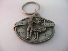 Vintage 1984 Square Dancing Key Chain by Siskiyou Buckle Co.