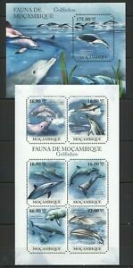 Mozambique 2011 MNH Odd Shape Stamps, Dolphins, Fish, Marine Life