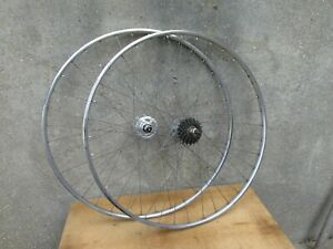 PEUGEOT TROPHY MAILLARD 700 ROUES VELO VINTAGE BICYCLE WHEELSET PX 10 PY 10