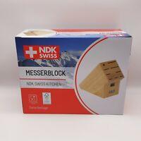 NDK SWISS KITCHEN Hartholz Messerblock für bis zu 8 Messer  Neu & OVP Unbestückt