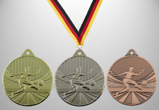 100 Fußball Medaillen Ø 50mm  mit Halsband & Beschriftung, Kinder Bambini Jugend