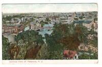 Postcard NJ River Bridge  Paterson Birds Eye View Antique 1908