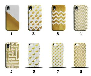 White and Gold Phone Case Cover Patterned Pattern Design Rabbits Maze Girls 8116
