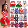 Baby Toddler Kids Girls Christmas Party Prom Tutu Dress Casual Outfits Clothes