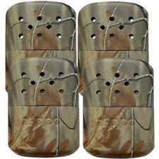 Zippo Set of 4 Realtree Refillable Deluxe Hand Warmers w/ Fill Cup & Warming Bag