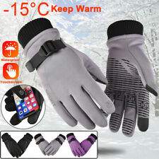 Men Women Winter Skiing Sport Warm Gloves Windproof Thermal Touch Screen Mittens